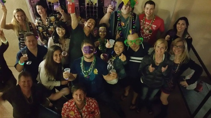 mardi gras party group