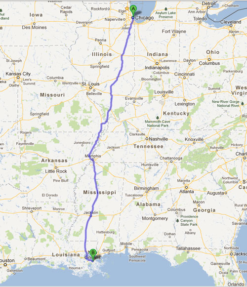 Road Trip Map
