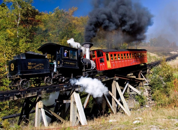 number 9 steam locomotive mount washington cog railway